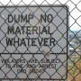 dump no material whatever