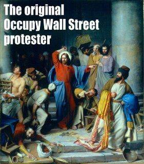 jesus money changers occupy wall street