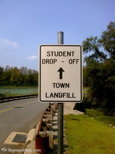 student drop off land fill