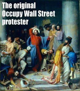 jesus money changers occupy wall street