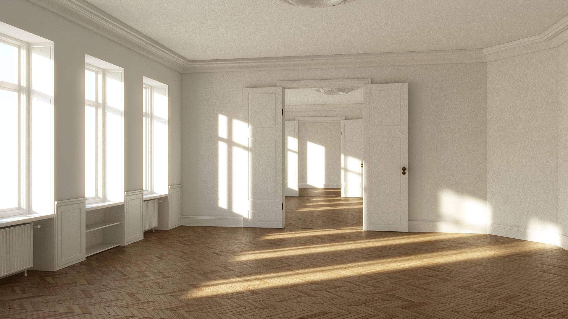 empty apartment house