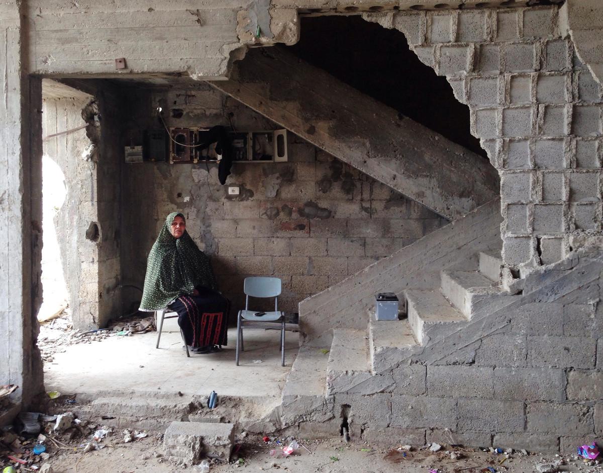 bombed house in gaza